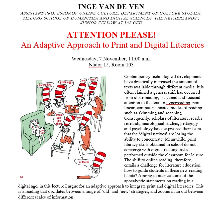94d4267efe43 ... approach to print and digital literacies  https   ias.ceu.edu events 2018-11-07 attention-please-adaptive-approach- print-and-digital-literacies …