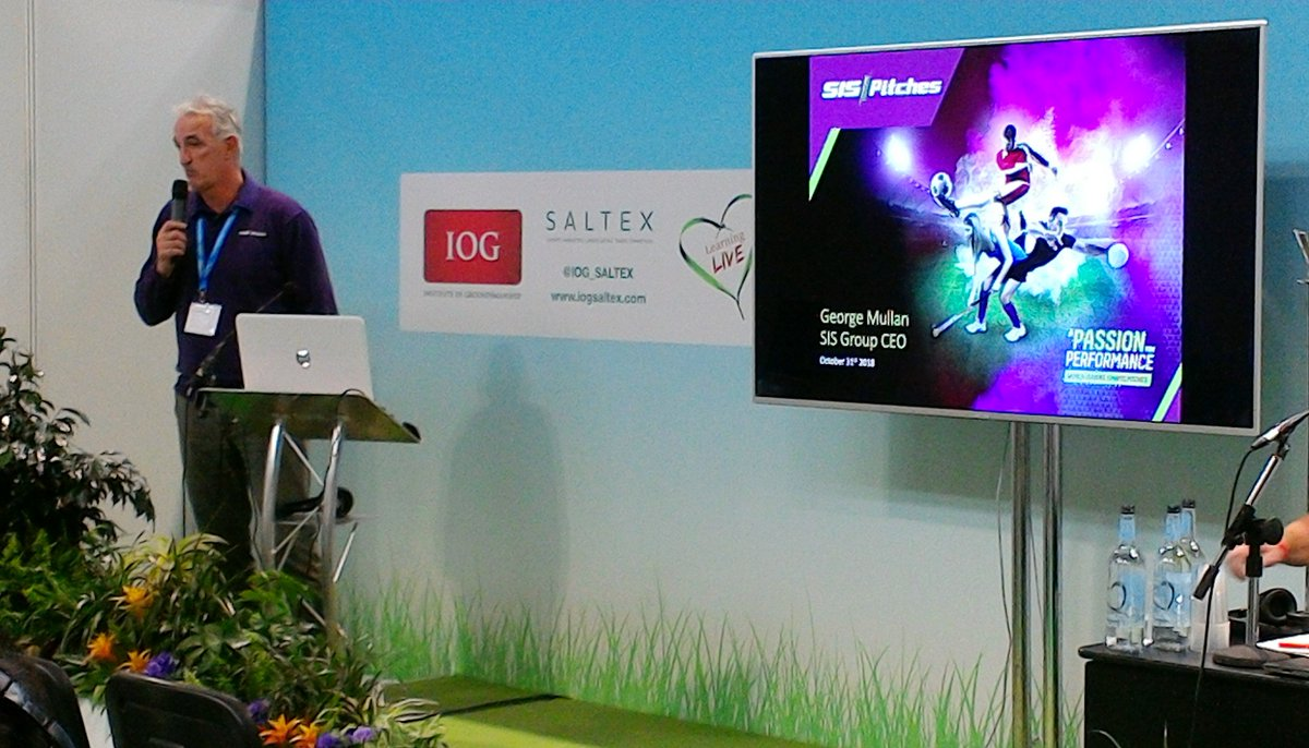 test Twitter Media - .@SIS_George from @SISPitches speaks on the first hybrid pitch for a FIFA World Cup final @IOG_SALTEX #BuildingAnActiveNation #SALTEX18  https://t.co/AWZgLG4Upd https://t.co/xfYxKFNHZs