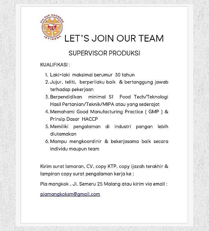 Ig Lokermalang On Twitter Lokermlg Lets Join Our