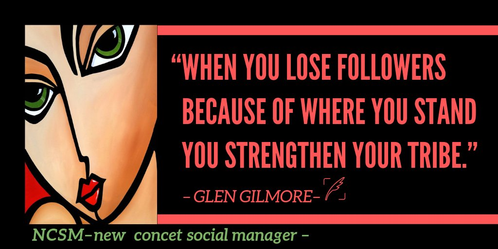 """When you lose followers because of where you stand  you strengthen your tribe."" @glengilmore  💛💛💛💛 http://bit.ly/fbfv1  💛💛💛💛  #newconceptsocialmanager #smm  #ThingsSaidBehindMyBack #WednesdayWisdom #HappyHalloween  #SurviveHalloweenIn4Words #WorldCitiesDay #RBIvsGovt"