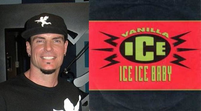 Happy 51st Birthday to Vanilla Ice! The rapper who performed the song, Ice Ice Baby.