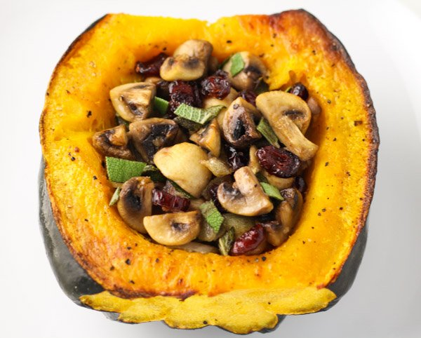 Roasted Acorn Squash Stuffed With Sage Mushrooms and Cranberries - #Thanksgiving #recipes https://t.co/9oxsEditfD https://t.co/Wg5Yzpptmx