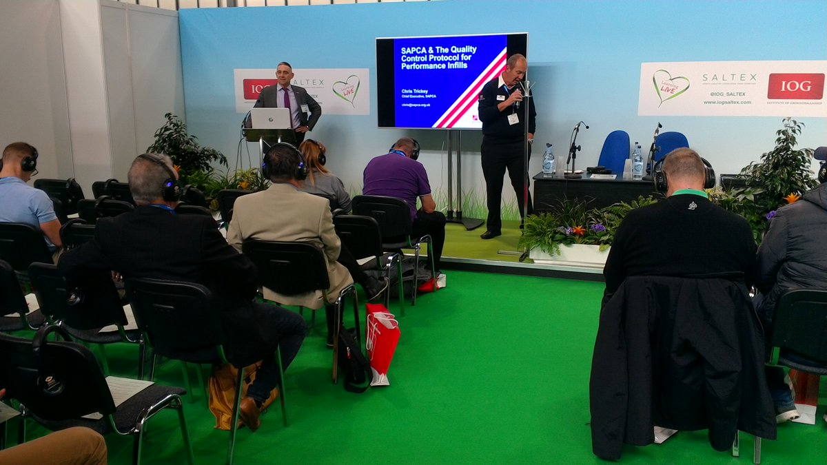 test Twitter Media - .@SAPCA Chief Executive, Chris Trickey, speaks on Quality Control Protocol for Performance Infills  for Synthetic Turf @IOG_SALTEX #BuildingAnActiveNation #sapca18 https://t.co/OxR38xeY6s
