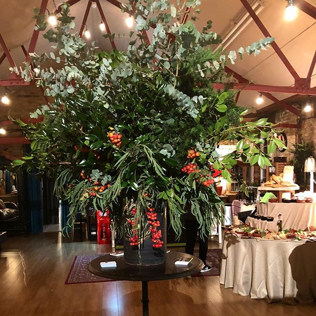 Elizabeth Marsh A Thank You To Lumierelondon For Great Evening Last Night We Loved Creating These Statement Foliage Arrangements This Event