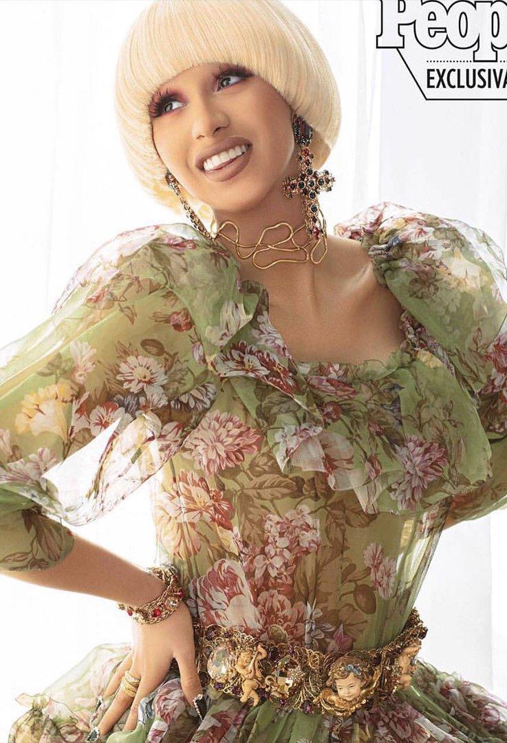 Cardi B wearing Dolce&Gabbana in the feature for @peopleenespanol. #DGWomen #DGCelebs @iamcardib