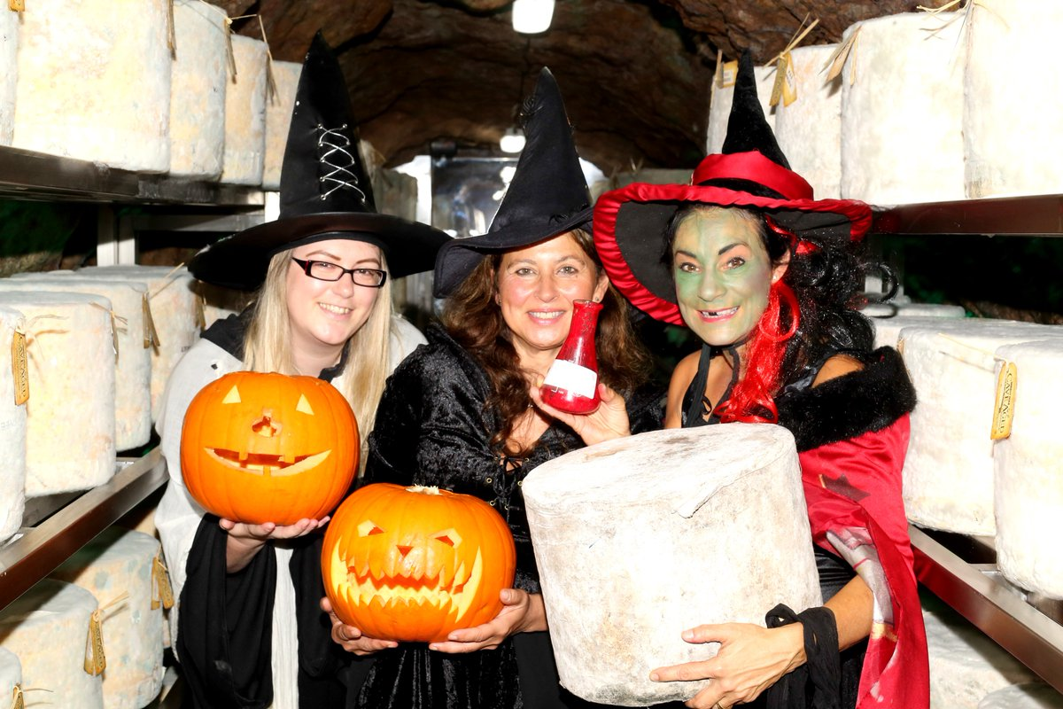 #HappyHalloweenfrom the cheese cave @WookeyHole 🎃🎃