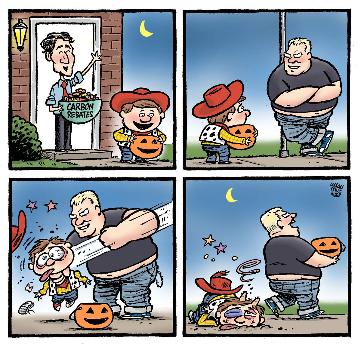 Here's today's #Halloween  cartoon in @TorontoStar #Carbon #DougFord