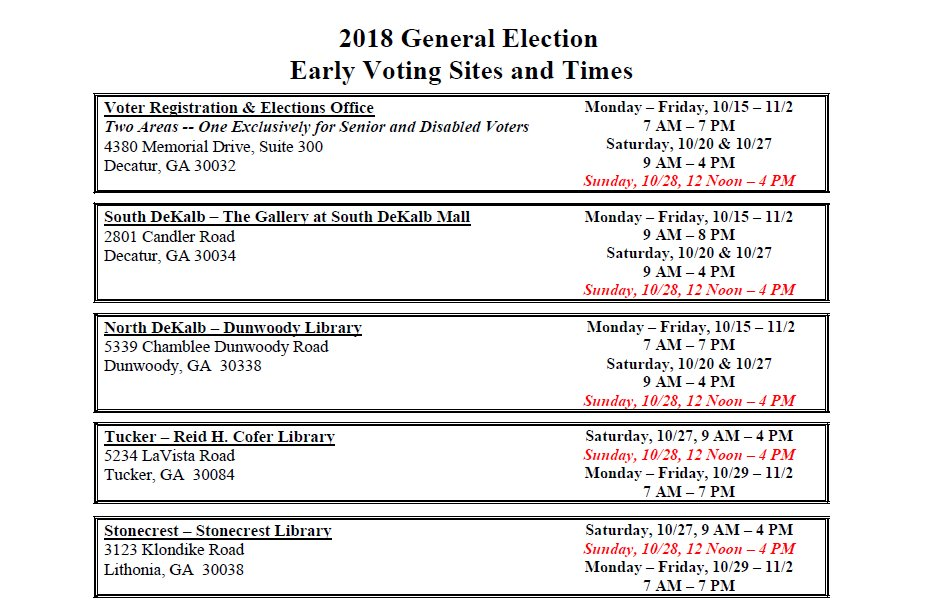 Dekalb County Votes On Twitter Day Sixteen Of Early Voting We