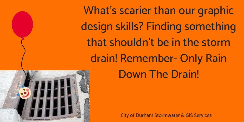 Durhamnc Stormwater On Twitter Halloween Stormwater Durhamnc