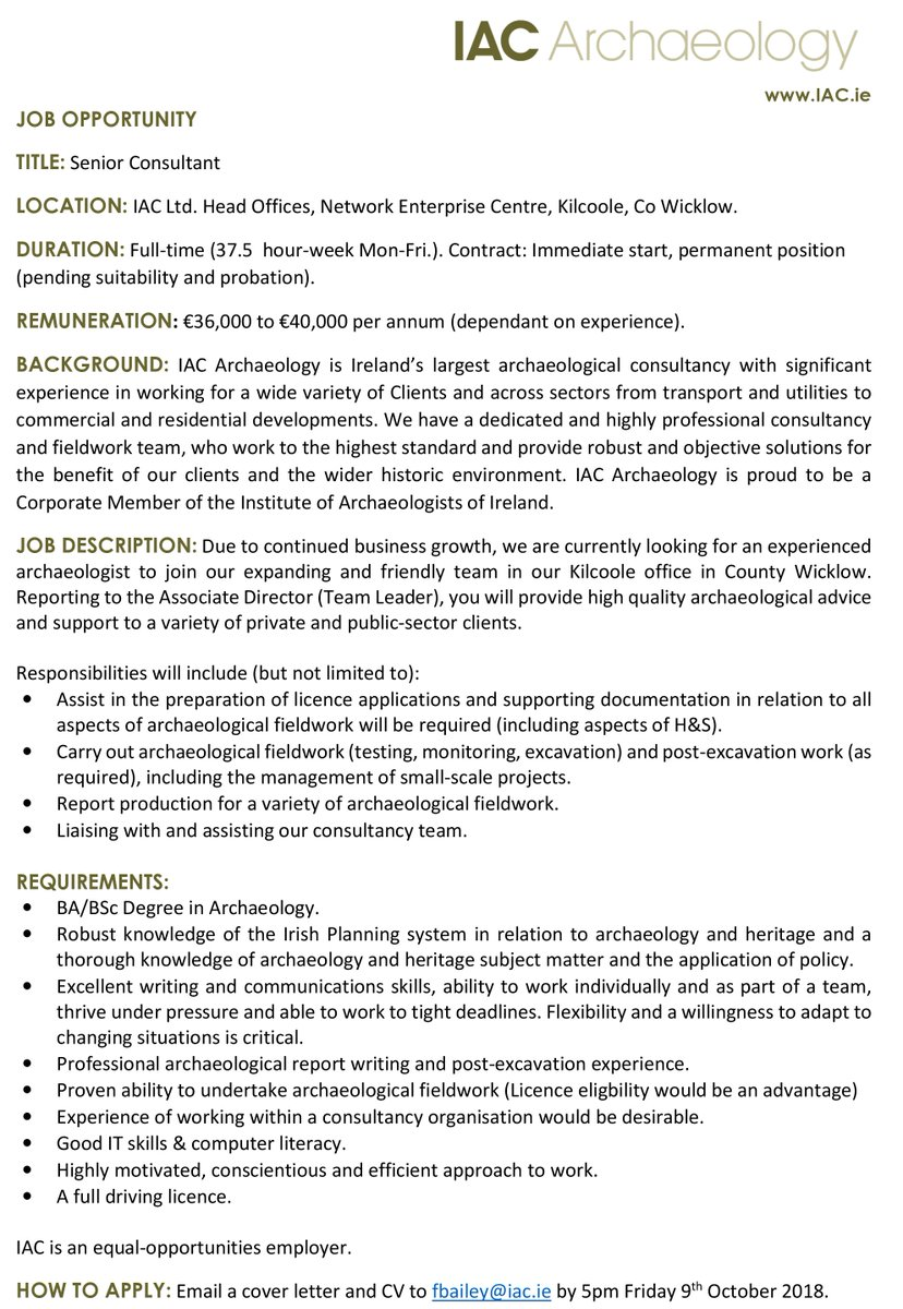 archaeology cover letter - Yatay.horizonconsulting.co