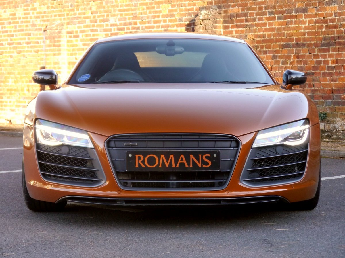 Romans Of St Albans On Twitter Audi R8 V10 Quattro In The Stunning Rare Samoa Orange Exterior With Black Fine Nappa Leather Seats Carbon Sigma Inlay Trim Interior With The