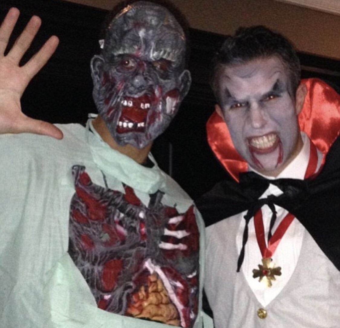 Name this geezer next to me?! 😂 #Halloween #tb  What a player btw #winner #leader 👑 🏆