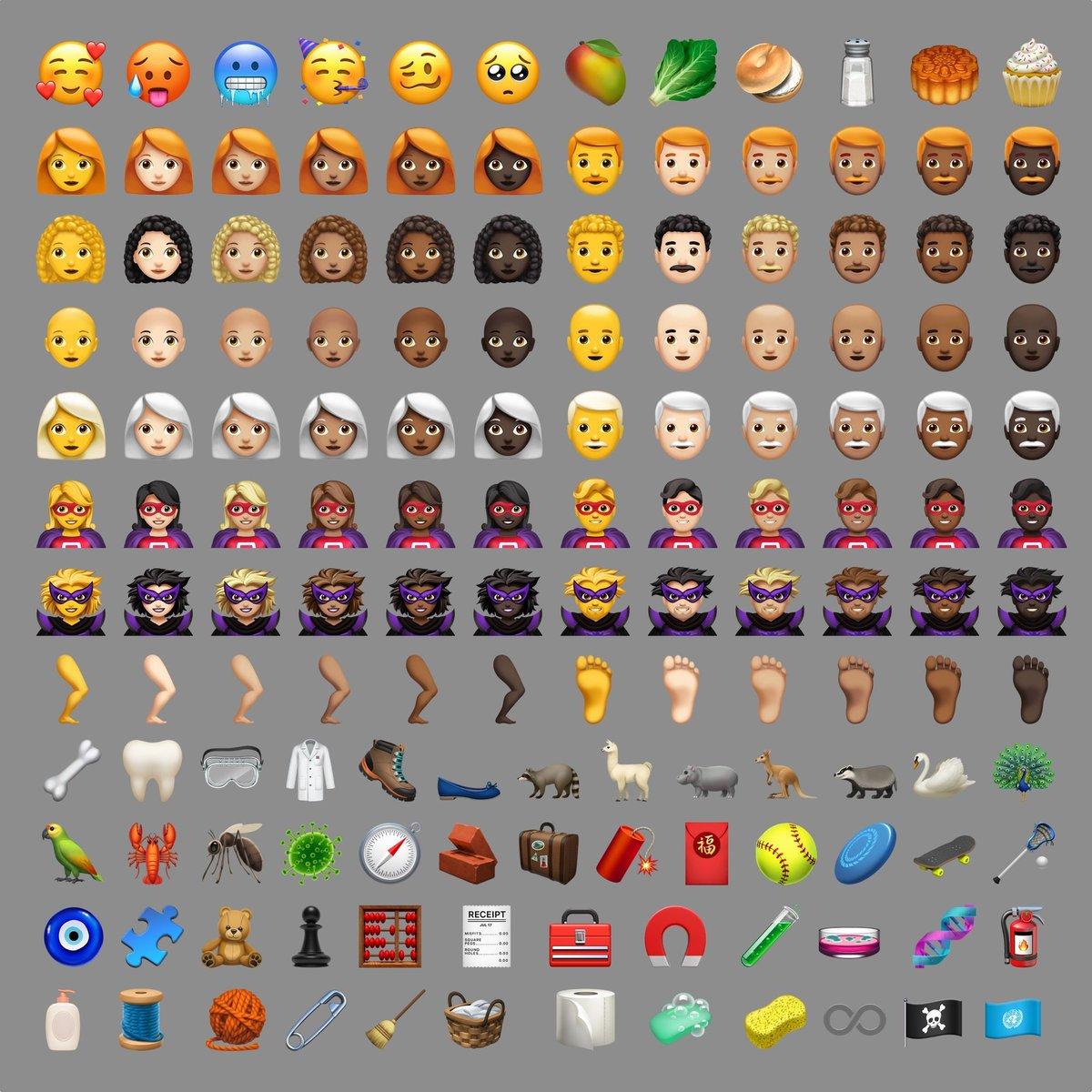 All new emojis in iOS12.1 #ios