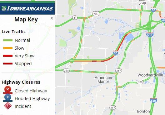Arkansas Dot On Twitter Pulaski Co I 30 Eb Lanes Are Now Open