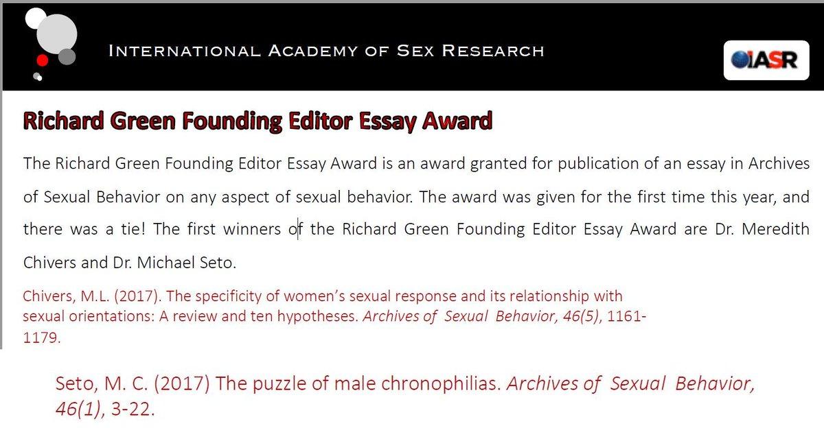 International academy of sex research