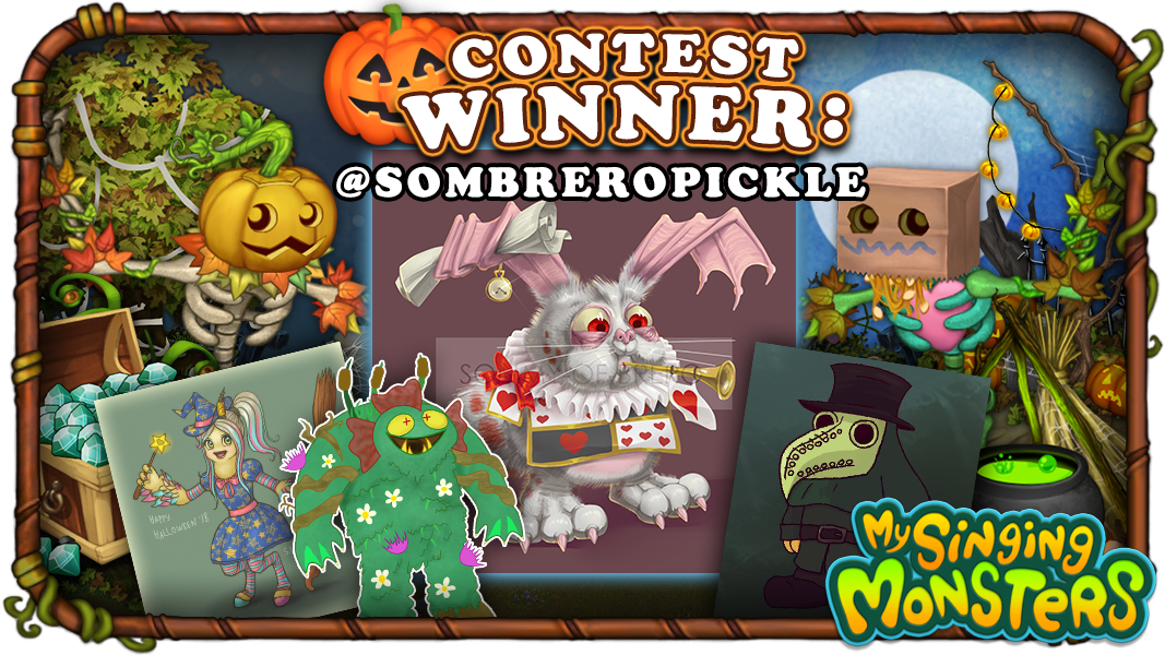 My Singing Monsters On Twitter The Contest Prizes As Outlined In The Terms Conditions Were A Treasure Chest Of Diamonds And A Collection Of Spooktacle Themed Decorations While There Is No Guarantee
