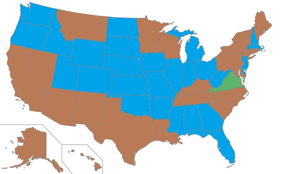 Terrible Maps On Twitter Us Governors By Eye Color - Us-governors-map