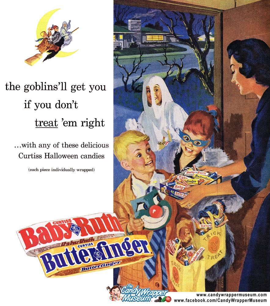 Vintage Halloween Ads.Go Nerd Yourself On Twitter A Vintage Halloween Ad For Baby Ruth