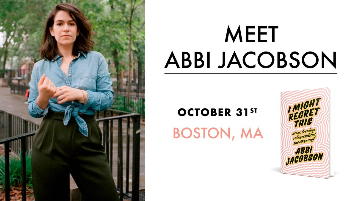 abbi jacobson book tour i might regret this