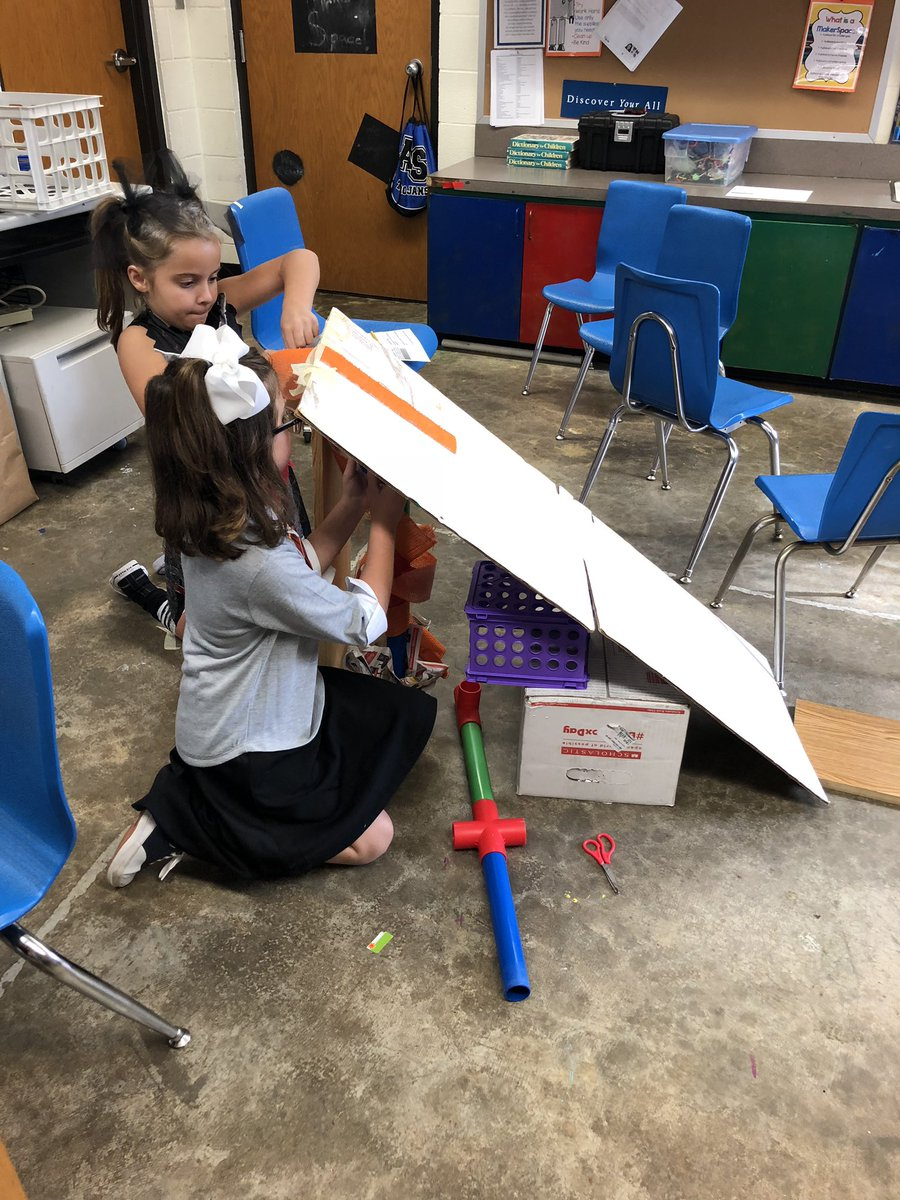 Jean Arnold On Twitter The Runaway Pumpkin Experiment The Kids Determined That A Higher Incline Made The Pumpkin Roll Farther Check Out These Ramps Stem Makerspace Asestyler Allsaintstyler Https T Co Euuzngai9c