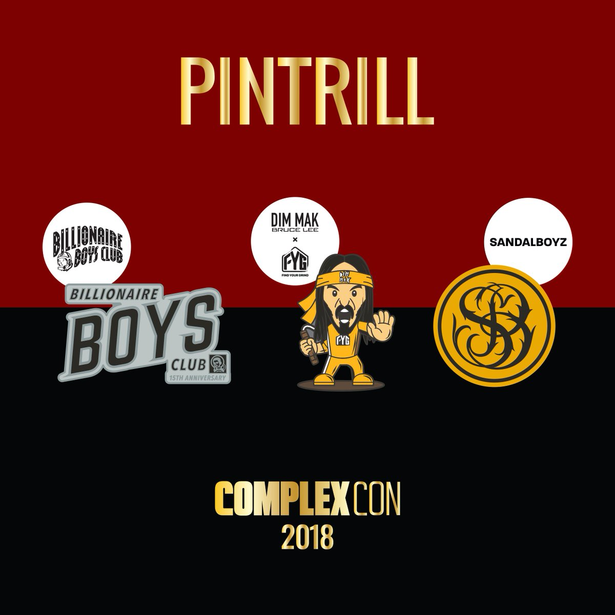 @bbcicecream @dimmak @sandalboyz 🔥🔥🔥 Tag someone going to @ComplexCon! Make sure you grab a free map at the #PINTRILL booth (F2) or info desks! See you this weekend! #GoodTrillHunting