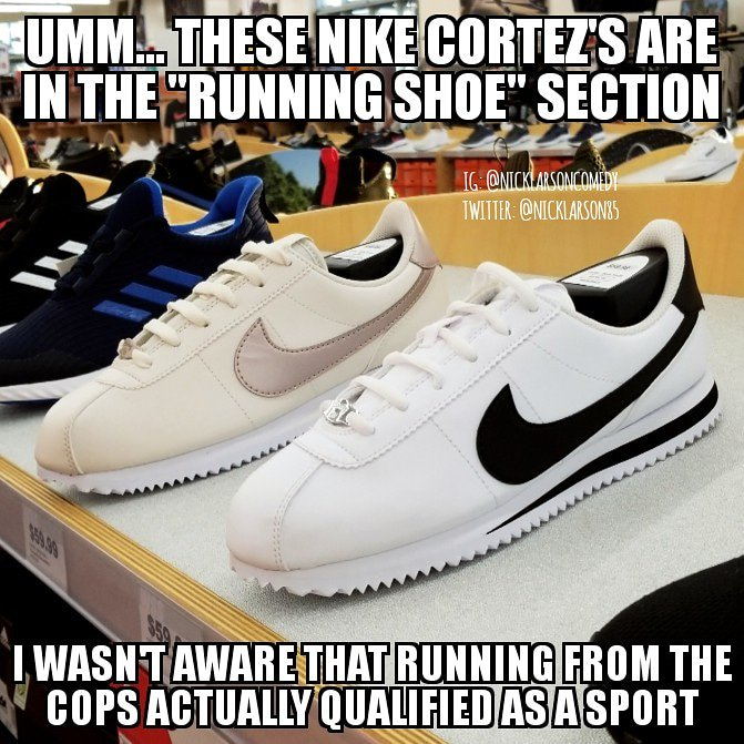 #Meme #memes #nike #nikerunning #cortezpic.twitter.com/P6SfbsaMXL