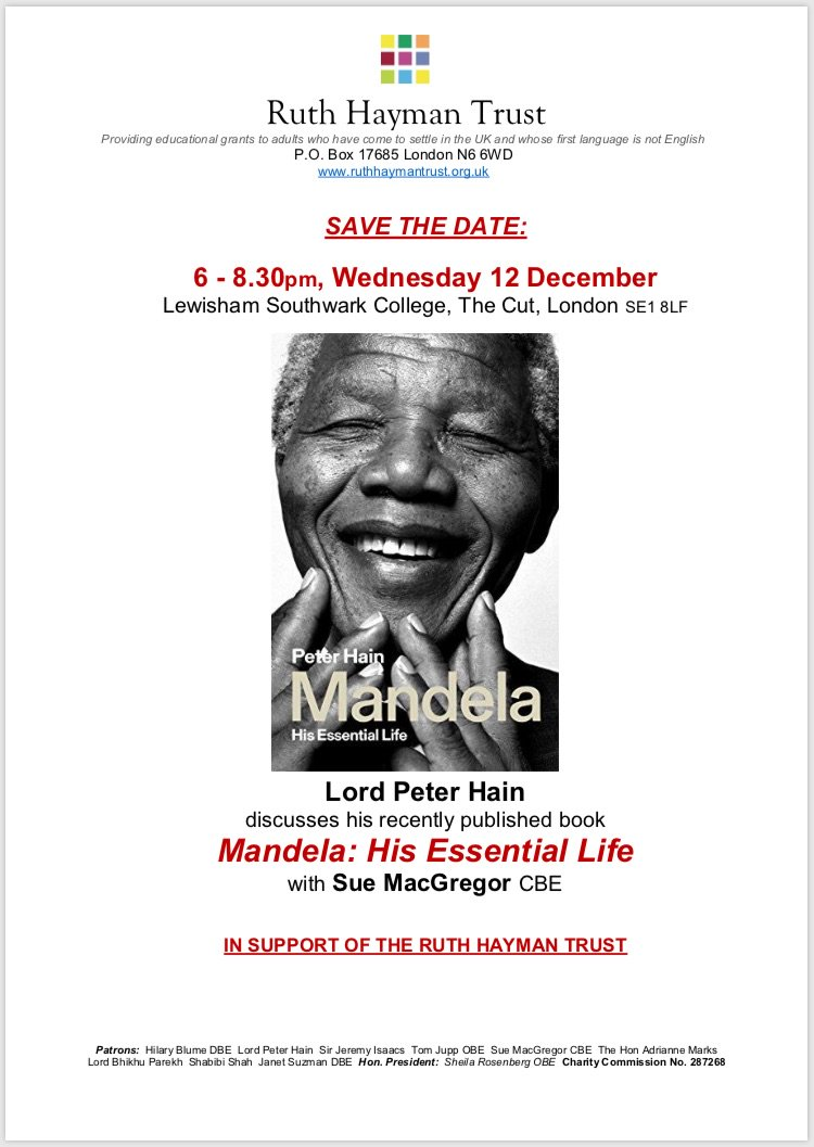 """Janet Hain ruth hayman trust on twitter: """"save the date! lord peter"""