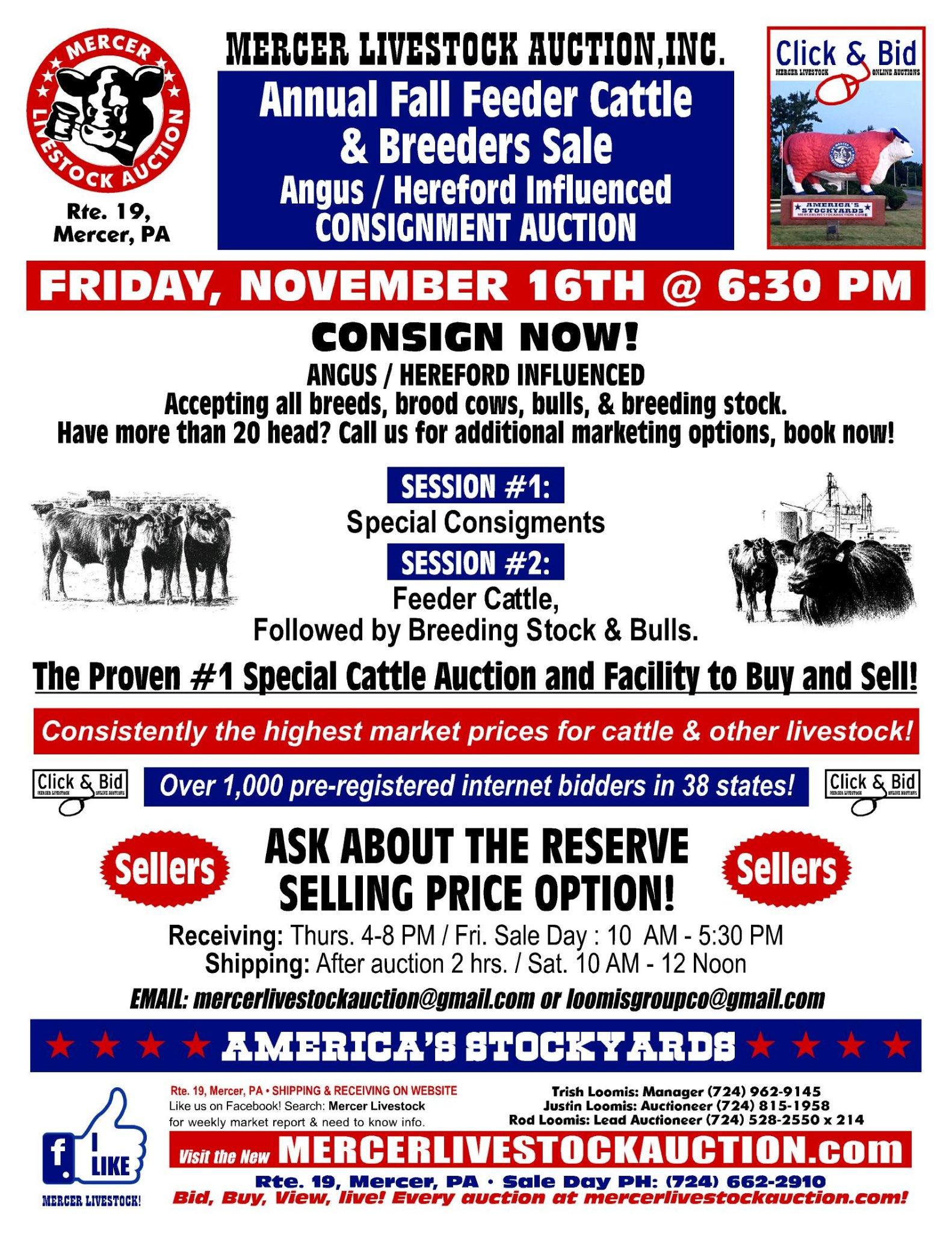 Mercer Livestock Auction Marketing Inc On Twitter Next Special Fall Feeder And Breeders Sale Friday November 16th 6 30 Pm