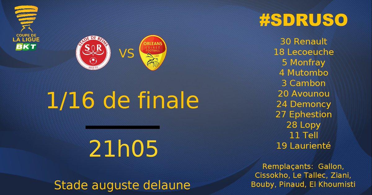 16ème de finale de la CDL  Stade de Reims - US Orléans Dq3J3GmWoAgZFft