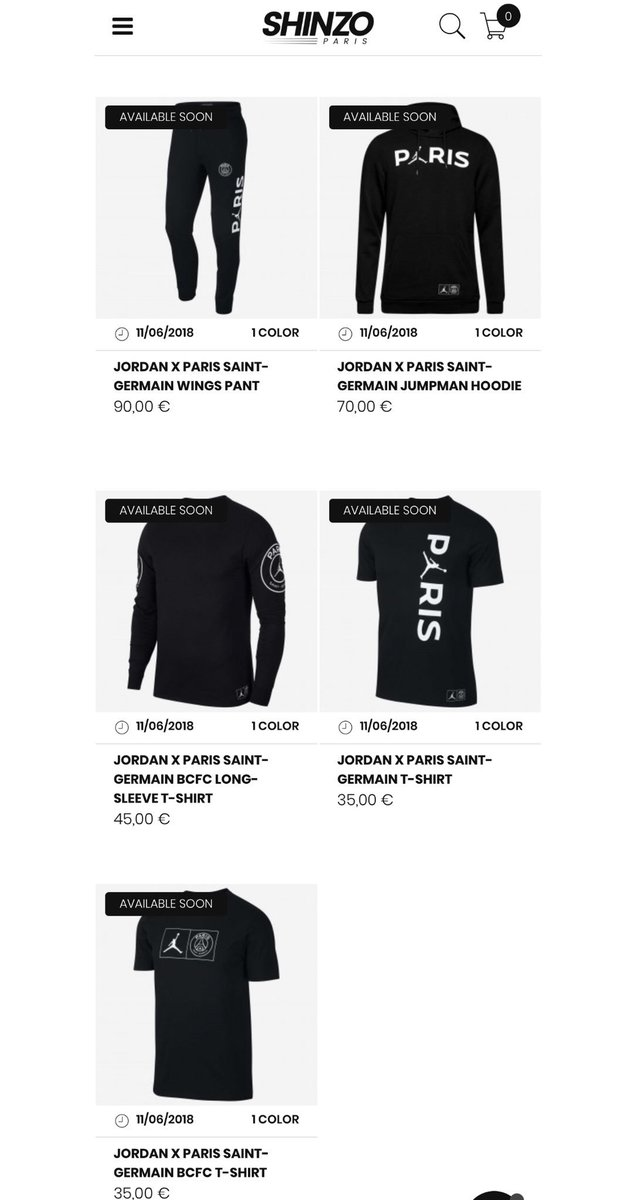 f92396ce1dd ... L/S t-shirt https://bit.ly/2SzUG6X Paris t-shirt https://bit.ly/2Sx0cY2  BCFC t-shirt https://bit.ly/2JtXxdI #snkr_twitrpic.twitter.com/ZUfvcWHhF7
