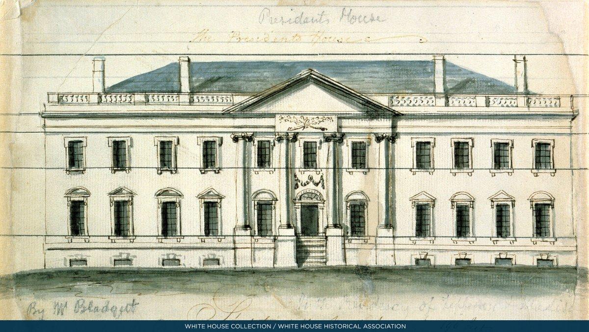 Superb White House History On Twitter Otd 1800 President John Download Free Architecture Designs Lukepmadebymaigaardcom