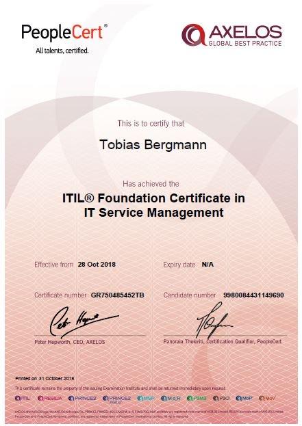 Tobias Bergmann On Twitter Endlich Mal Wieder Ein Zertifikat I