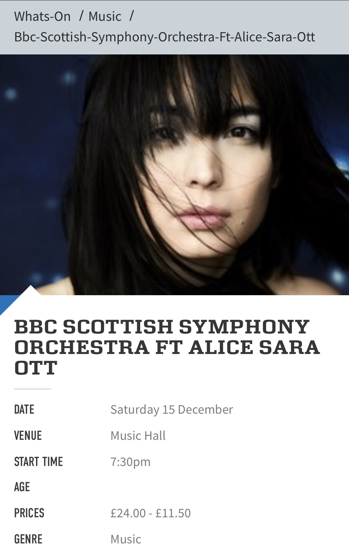 Reloaded twaddle – RT @AMusicland: BBC Scottish Symphony Orchestra ft Alice Sara Ott on 15 Dec 2018...
