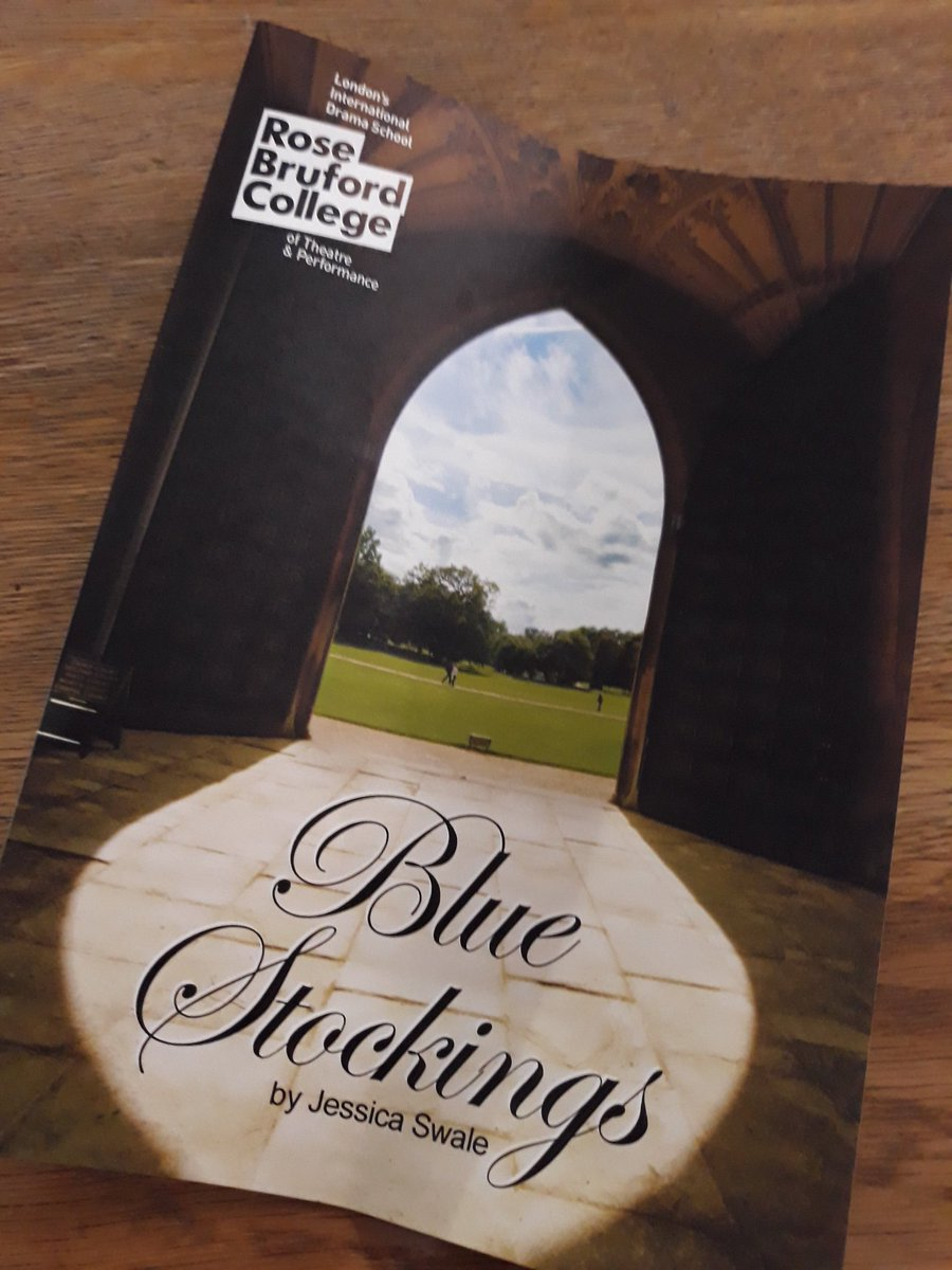 One of the best things, if not the best thing in #Sidcup is @rosebruford. Fantastic performance of Blue Stockings this evening. As good as anything you'll see up West.