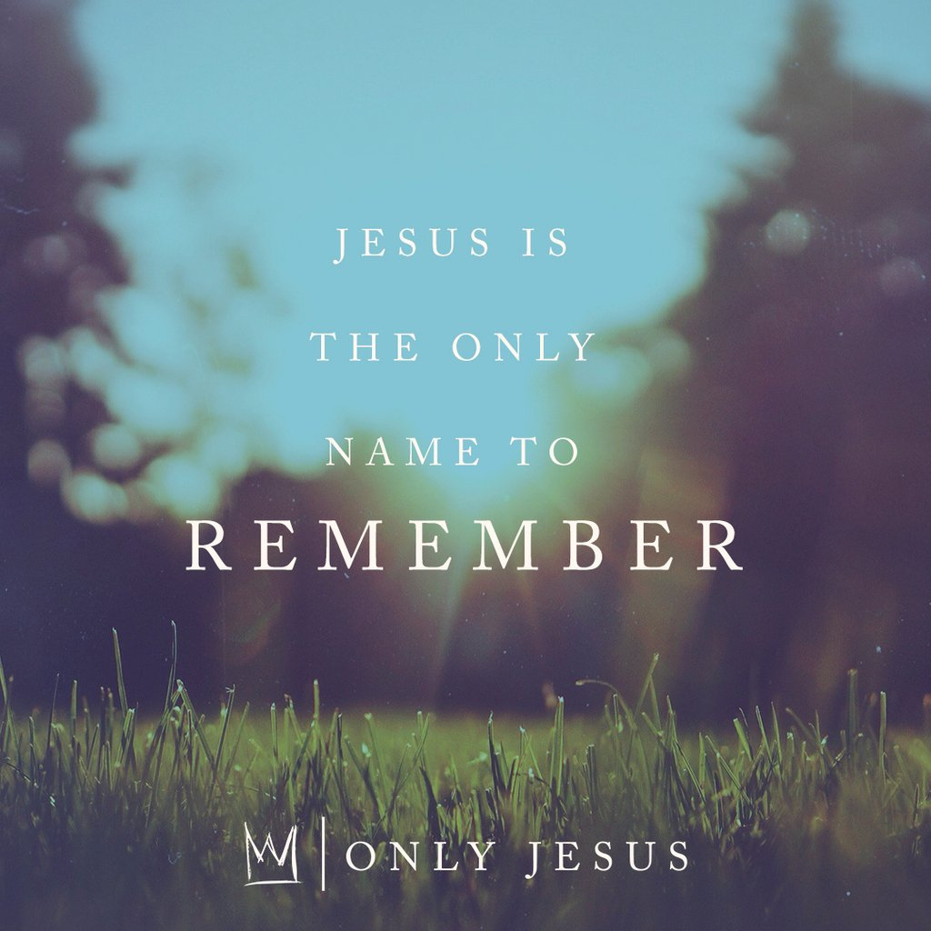 Jesus is the only name to remember. #OnlyJesus CastingCrowns.lnk.to/OnlyJesusSongTW