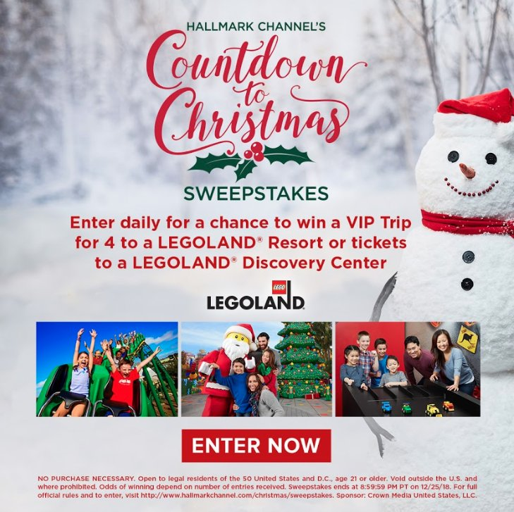 Hallmark Channel On Twitter Hallmarkies Here S Your Chance To Win A Vip Family Trip For 4 To A Legolandparksandresorts Location Of Your Choice Plus Lots Of Fun Prizing In Our Countdowntochristmas Sweepstakes