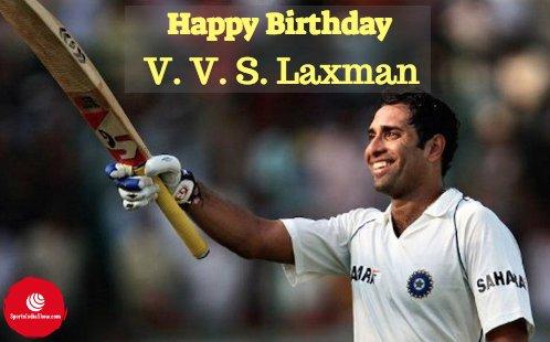 Here\s wishing one of most consistent batsmen, V.V.S Laxman a very happy birthday !!!! .
