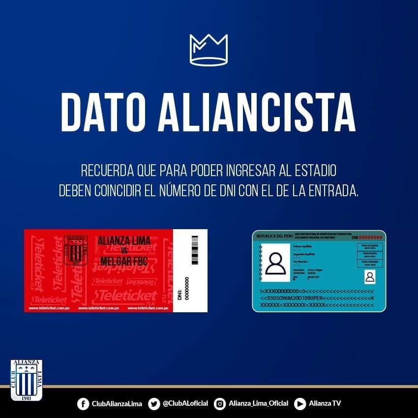 Club Alianza Lima S Tweet Recuerda Que El Número De Tu