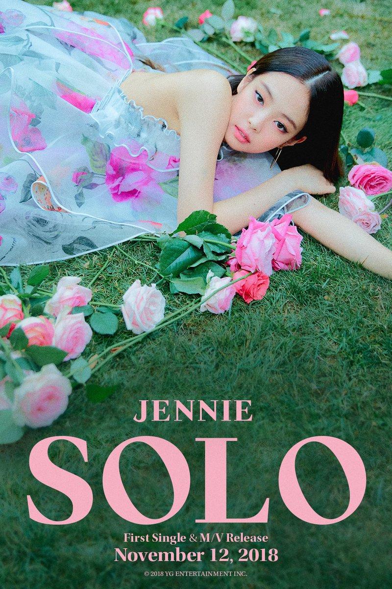 #JENNIE '#SOLO' TEASER POSTER  First Single & M/V Release ✅ 2018. 11. 12  #BLACKPINK #블랙핑크 #제니 #YG