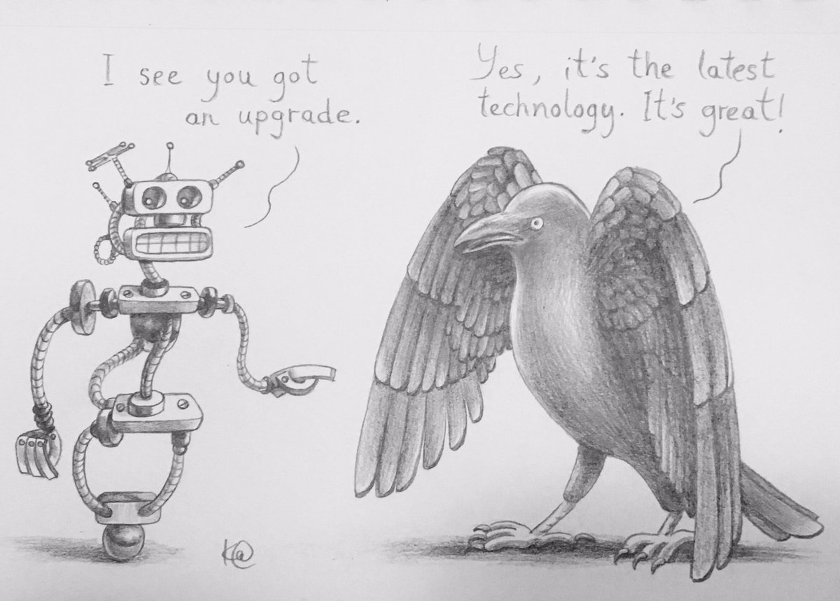K S Snarky Cartoons On Twitter Organic Upgrade Tech