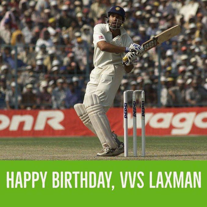 Happy birthday V.V.S Laxman