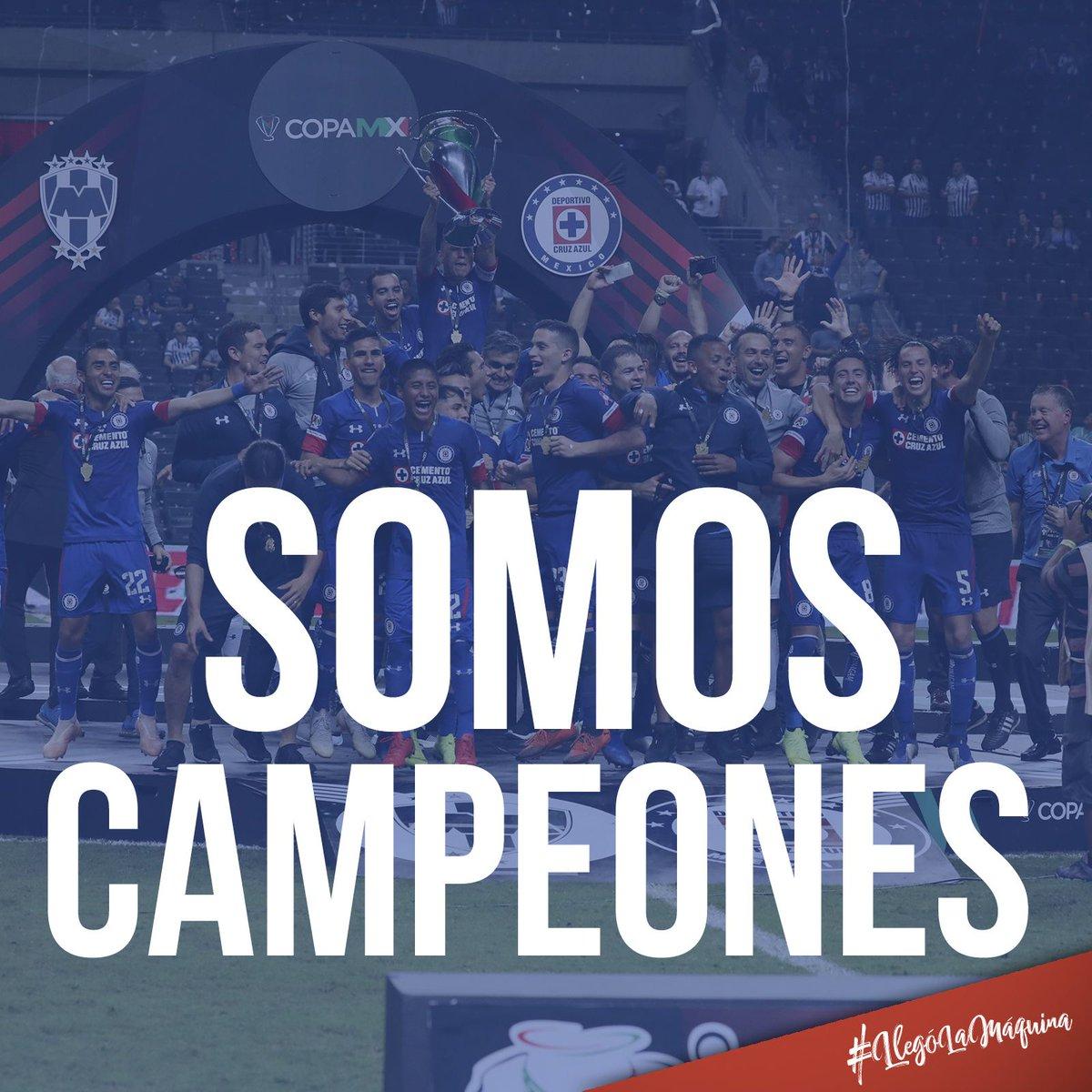 ¡Ganó La Máquina y somos campeones de la @CopaMx! #LlegóLaMáquina #CruzAzulCampeón
