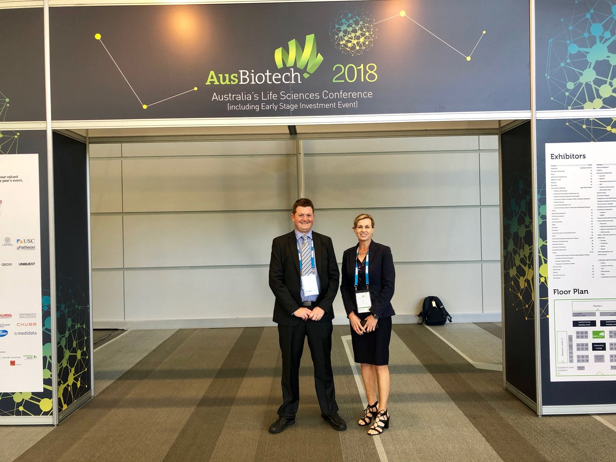 Elaine Darby presenting on a panel at @AusBiotech in Brisbane to discuss Medical Cannabis Commercialisation #AC8