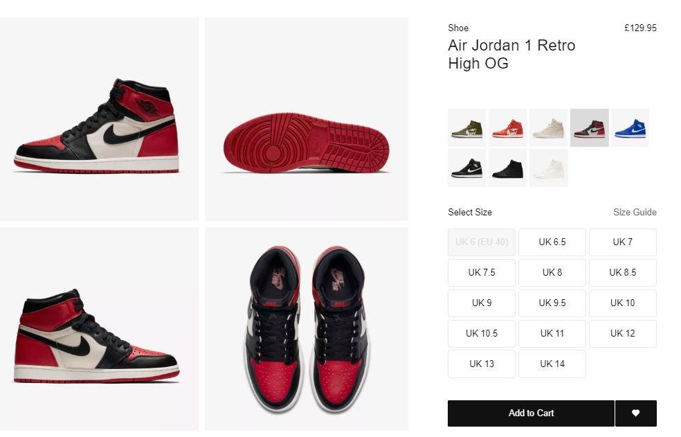 pretty nice 3e150 3a562  ad RESTOCK via NIke EU Air Jordan 1 Retro High OG Bred Toe UK  http   tinyurl.com y8ue3lvg FR http   tinyurl.com yb7qyf3s  DE http   tinyurl.com y7688elr No ...