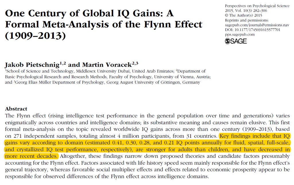 Iq And Fade Out Effect Environmental >> Steve Stewart Williams On Twitter 3 Iq Scores Have Been