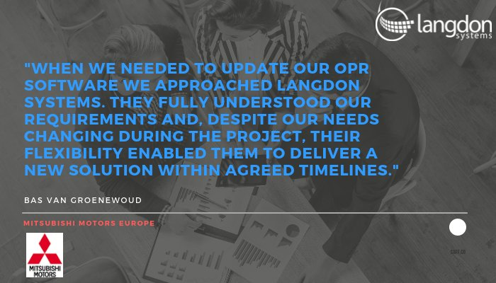 ... on working with us. http://www.langdonsystems.com #ClientTestimonial #Software #B2B #SaaS #Customs #Mitsubishi #Motorspic.twitter.com/xiqHk7H1Sc