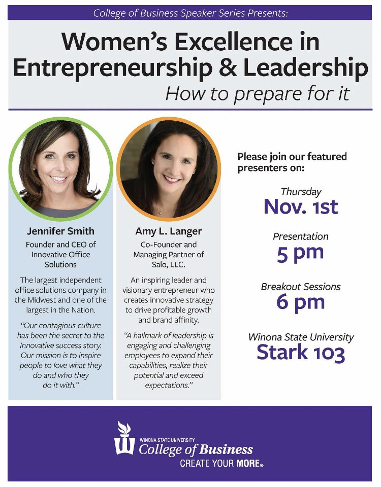 Today is the day!💡Head to Stark 103 at 5pm for a panel presentation with these inspiring business leaders! Breakout sessions to follow in the Engagement Center at 6pm