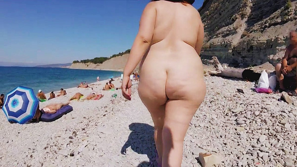 Another Hot Video Sold  Bbw Nudist Walking Through -3576