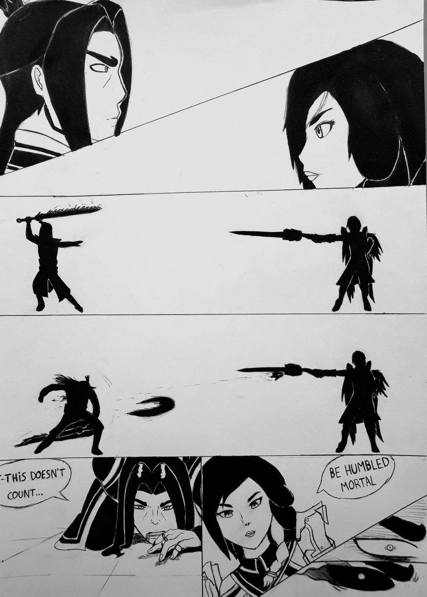 """Fan art made by me: Zhin vs Furia """"Swords Encounter""""  #paladins #paladinsart #zhin #furia #evilmojo"""