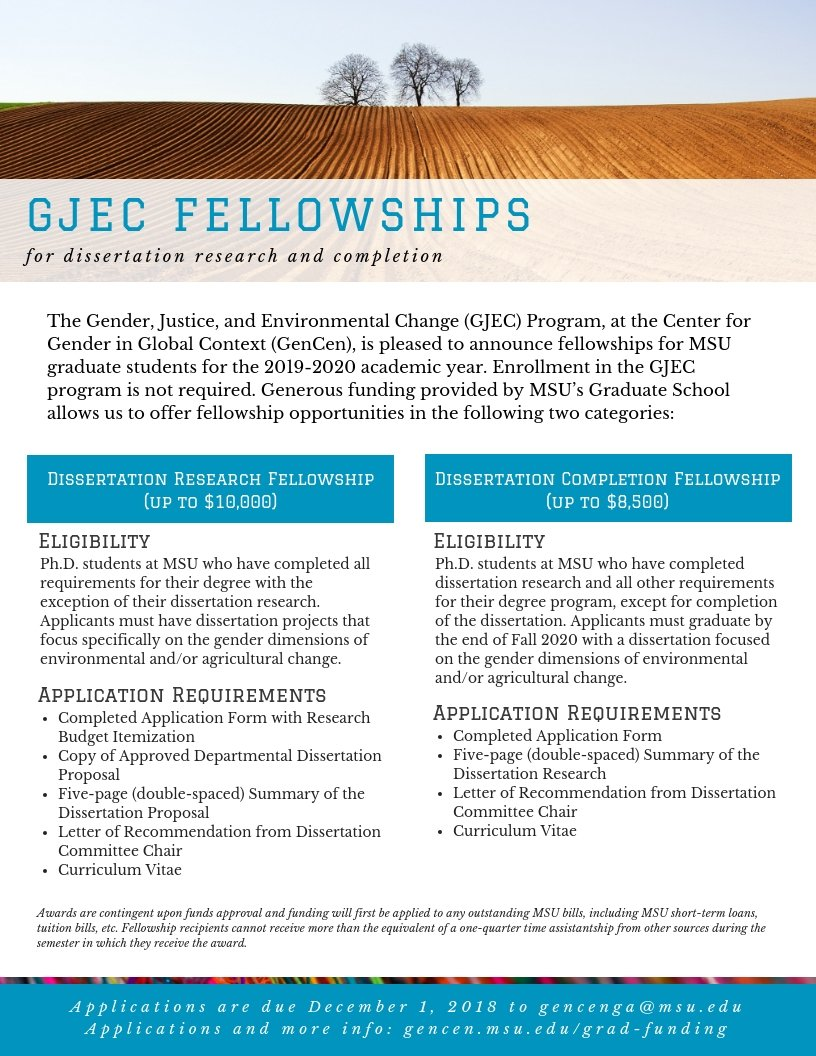 dissertation completion fellowships msu
